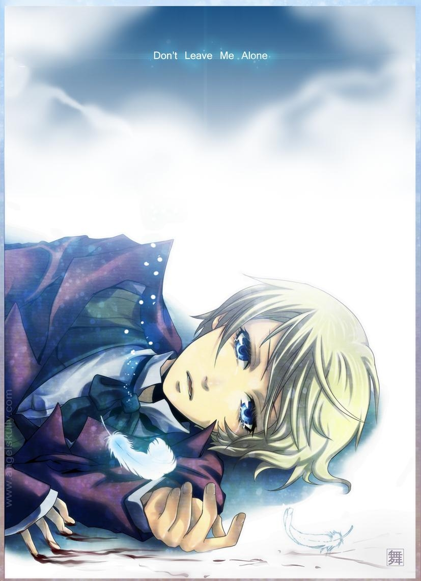 Square Enix, Alois Trancy, Blonde Hair, Blood, Blue Eyes, Short Hair, Solo, Male, Bow Tie, Bows (Fashion), Crying, Feather, Laying Down, Tie, Kuroshitsuji
