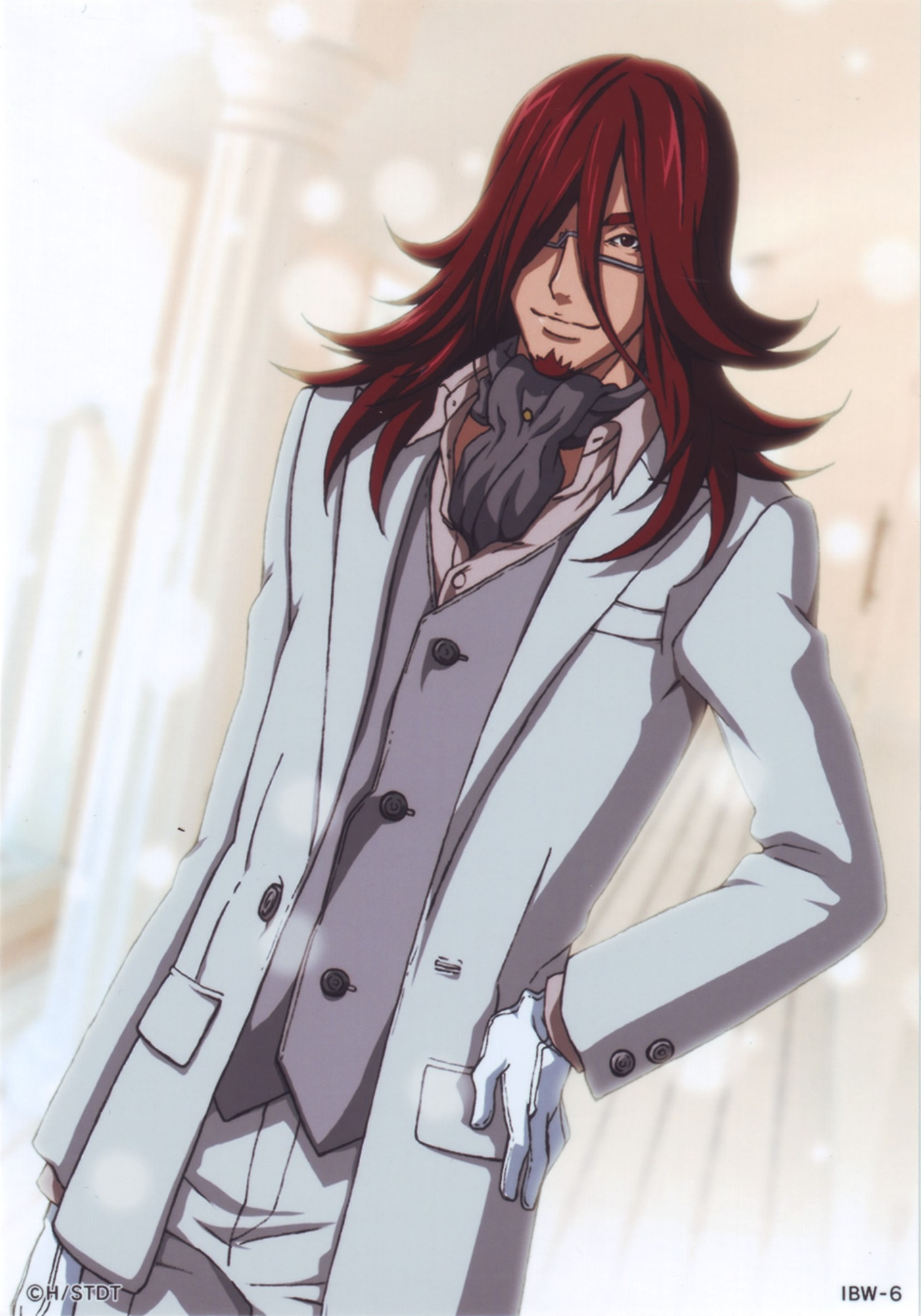 Cross Marian, Smile, Gloves, Male, Red Hair, Solo, Suit, D.Gray-man
