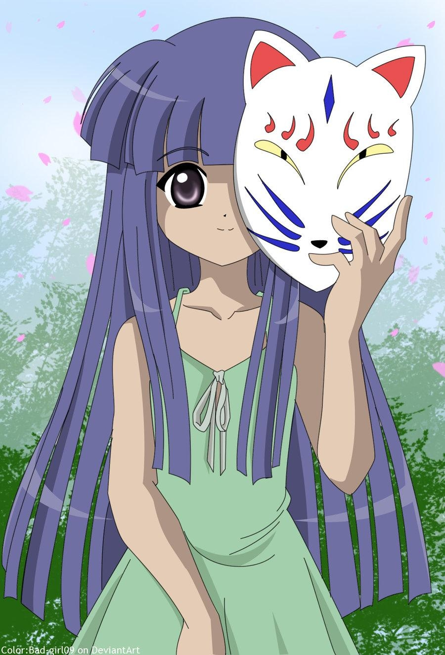 Furude Rika, Higurashi No Naku Koro Ni, Smile, 07th Expansion, Blue Hair, Solo, Female, Green Outfit, Little girl, Cherry Blossom