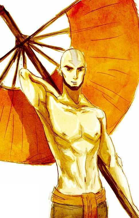 Aang, Avatar: The Legend Of Korra, Serena Kenobi, Shirtless, Male, Solo