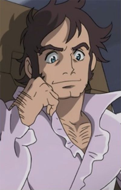 Charles Beams, Eureka Seven, Male, Solo, Short Hair, Hand On