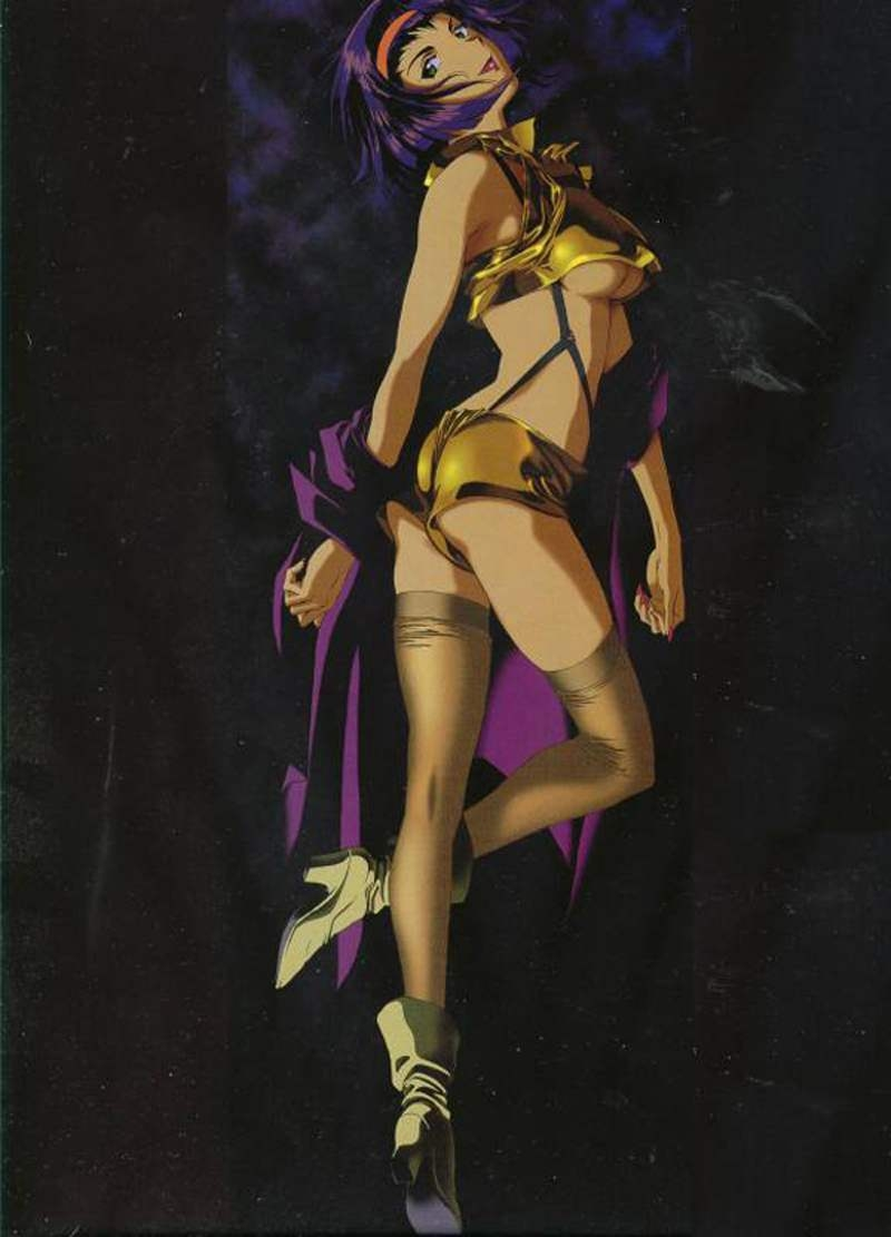 Schön Cowboy Bebop, Simple Background, Faye Valentine, Female, Solo, Black  Background,