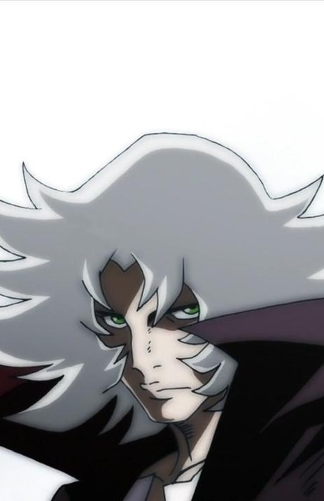 White Background, White hair, Looking At Camera, Solo, Male, Casshern Sins, Dune