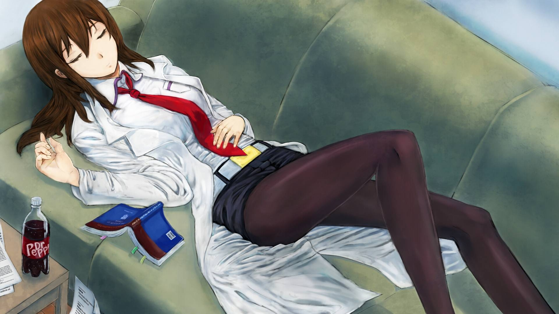 Kurisu makise lab coat