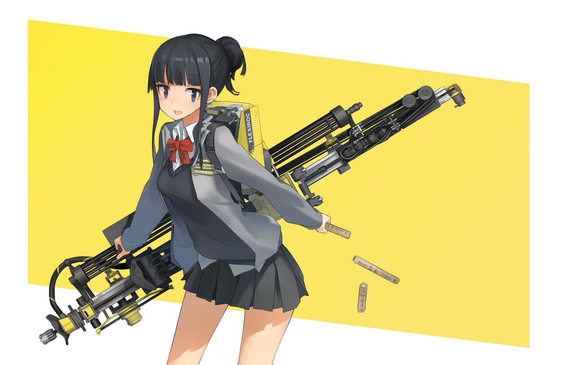 Solo, Gun, Black Hair