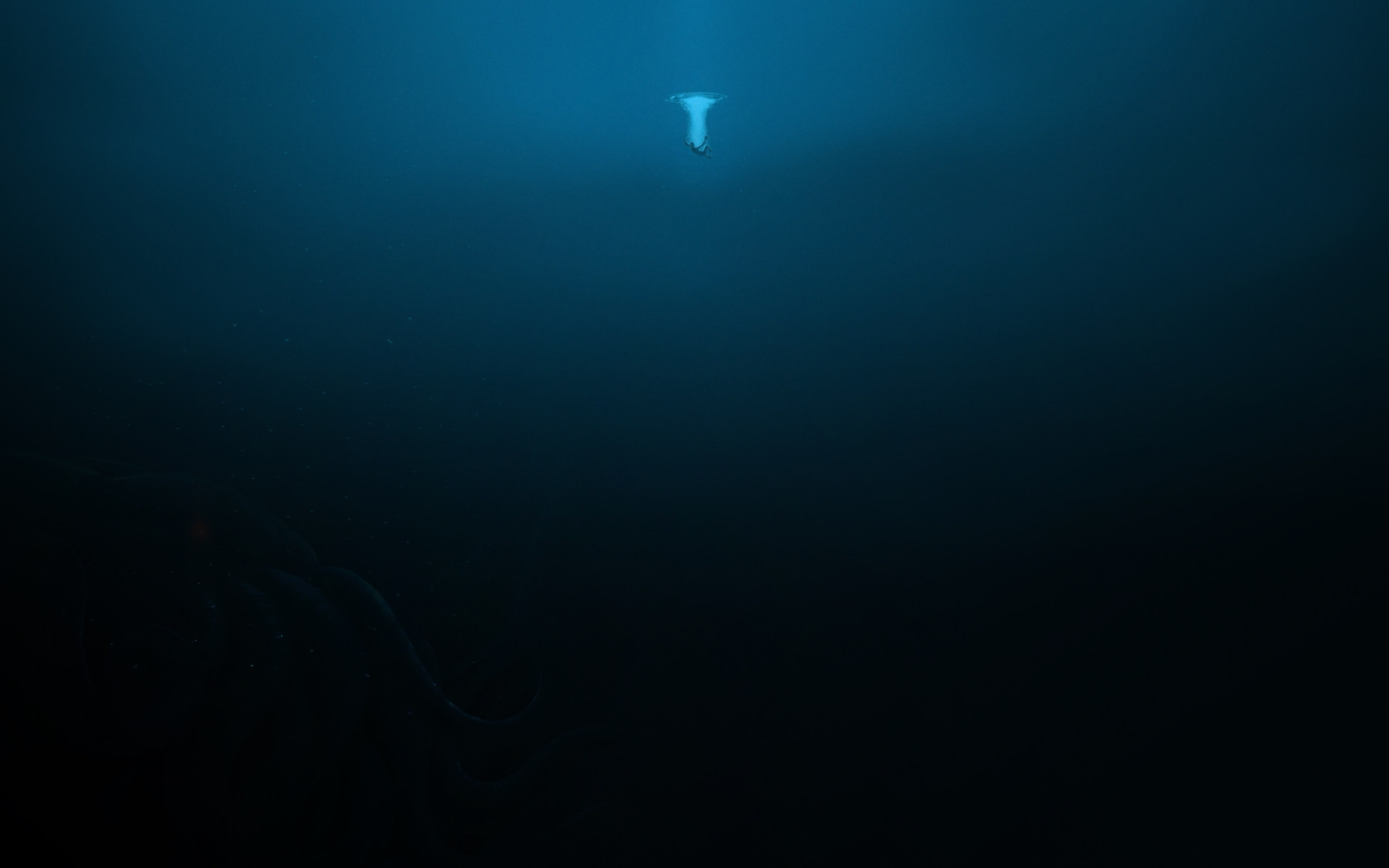 Underwater, Fade, Fears, Darkness, Water, Ocean, Wallpaper