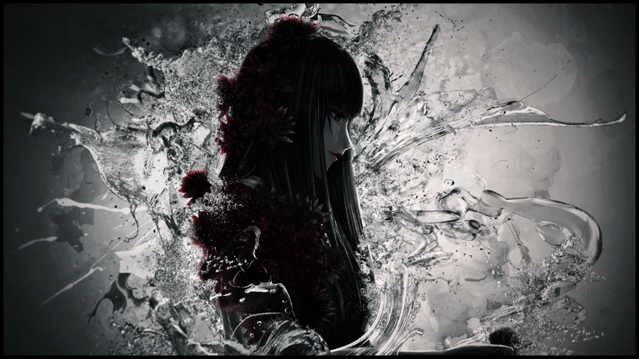 Chiyuki, Death Parade, Abstract, Gothic, Black Hair, Girl