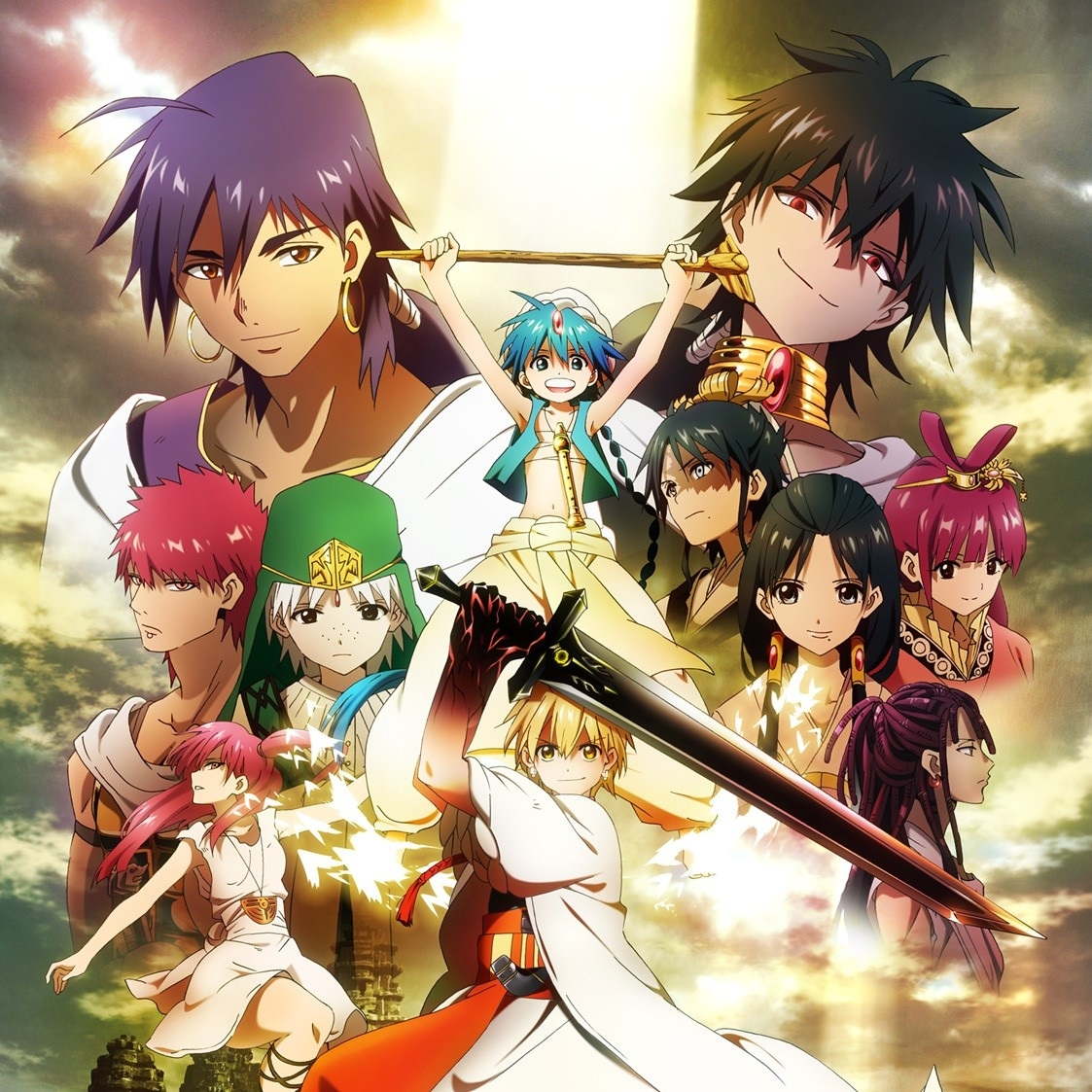 Magi - The Kingdom of Magic, Aladdin, Alibaba Saluja, Morgiana, Sinbad, Hakuryū Ren, Judal