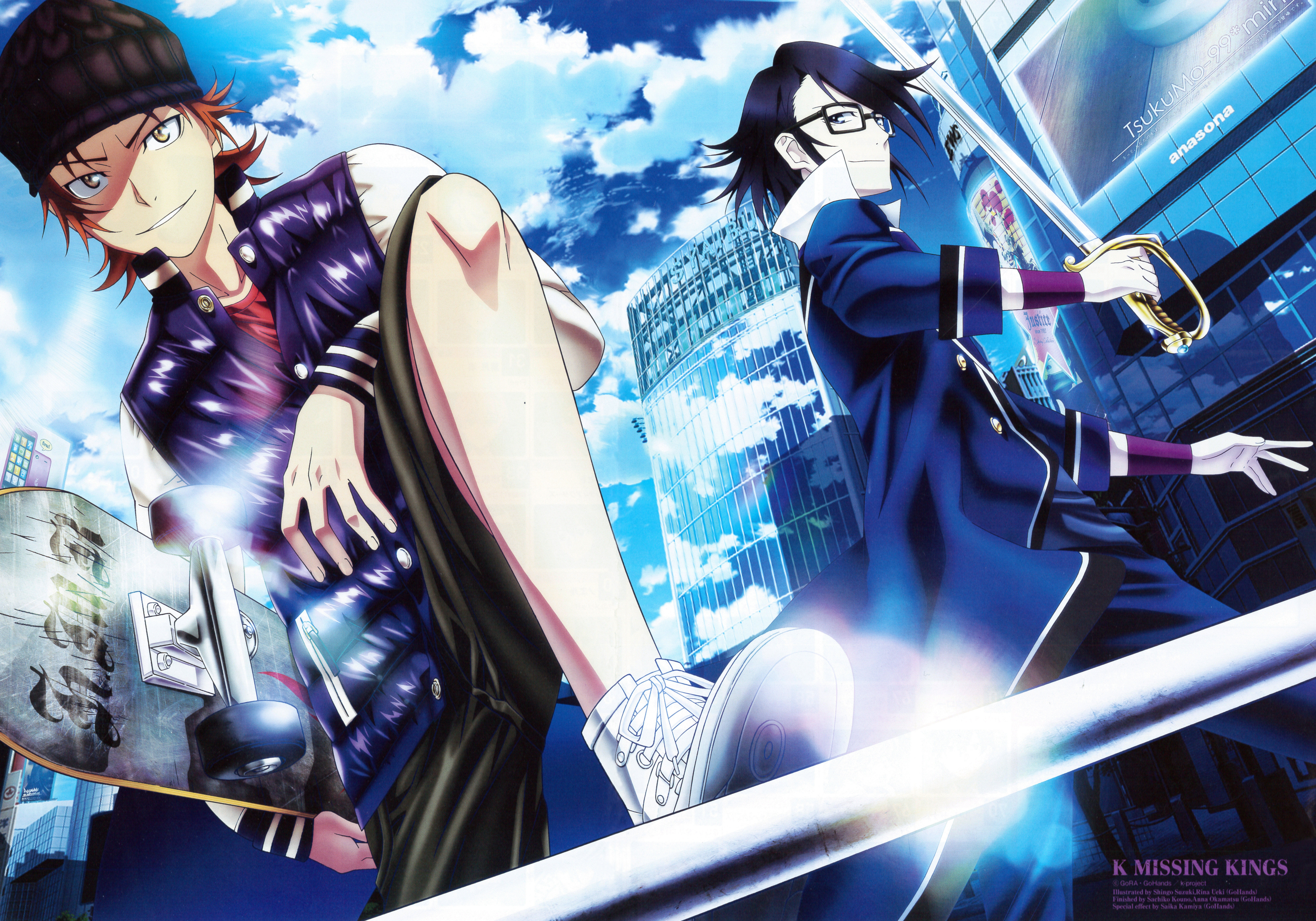 K: Return of Kings, Saruhiko Fushimi, Misaki Yata