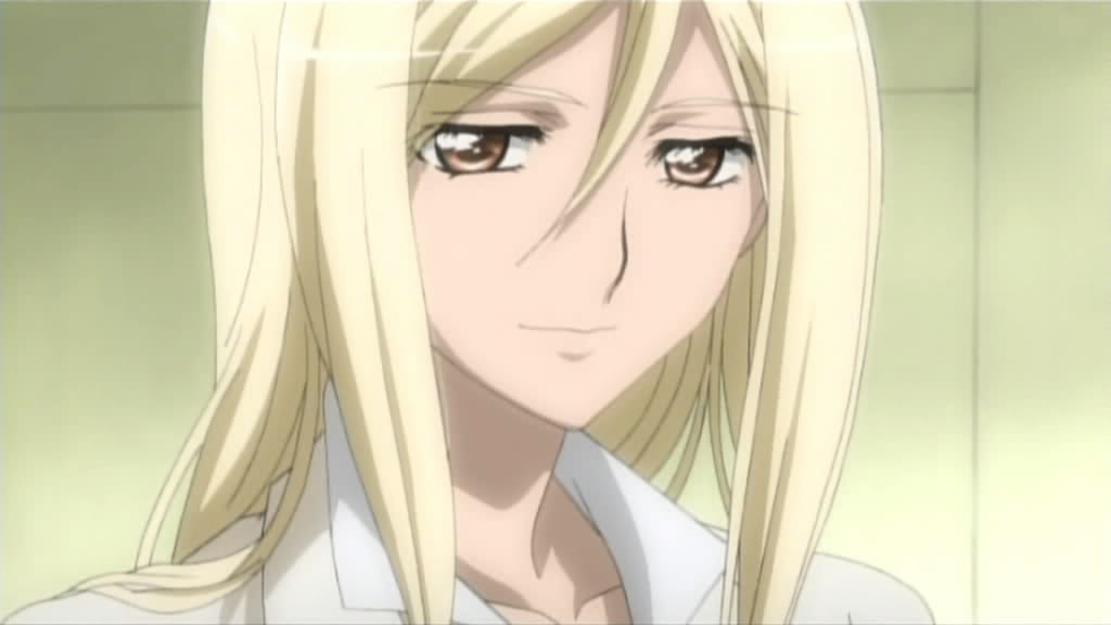 Takano Miyo, Blonde Hair, Orange Eyes, White Shirt