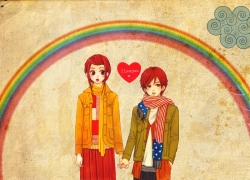 Atsushi Otani, Risa Koizumi, Red Hair, Brown Eyes, Female, Male, Couple, Romantic, Duo, Lovely Complex