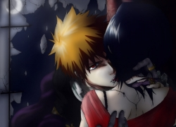 Female, Male, Orange Hair, Shinigami, Short Hair, Vampire, Deviantart.com, Bleach, Kurosaki Ichigo, Rukia Kuchiki