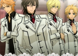Hanabusa Aidou, Ichijo Takuma, Akatsuki Kain, Studio Deen, School Uniform, Kaname Kuran, Blonde Hair, Four Males, Green Eyes, Male, Quartet, Short Hair, Tie, Vampire, Vampire Knight