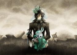 Gilbert Nightray, Sad, Skull, Crown, Graveyard, Desolate, Pandora Hearts