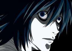 L Lawliet, Mad House, Short Hair, Black Eyes, Death Note