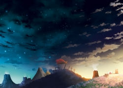 Type-moon, Sky, Night Sky, Battlefield, Fate/zero