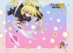 Konjiki No Yami, Yuuki Rito, To Love-Ru, Blonde Hair, Duo, Female, Long Hair, Male, Orange Hair, Short Hair