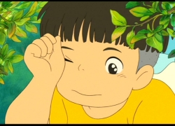 Sousuke, Studio Ghibli, Gake no Ue no Ponyo, Brown Hair, Bushes, Leaves, Male, Short Hair, Solo, Screenshot