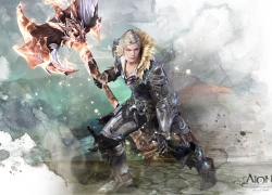 Aion: The Tower Of Eterni..., 1920x1200 Wallpaper, Male, Armor, Solo, Axe, Blonde Hair, Fauxhawk, Widescreen 16:10 Ratio, Wallpaper