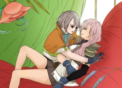 Final Fantasy XIII, Hope Estheim, Square Enix, Pink Hair, Gray Hair, Short Hair, Female, Long Hair, Male, Éclair Farron