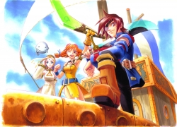 Cupil, Vyse, Eternal Arcadia, Trio, Artist Request, Scan, Aika, Pirate, Fina, Blonde Hair, Female, Orange Hair