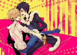 Masaomi Kida, Izaya Orihara, Black Hair, Short Hair, Durarara!!, Blonde Hair, Male