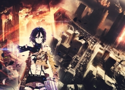 SNK, Attack on Titan, Mikasa Ackerman, Shingeki no Kyojin