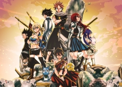Fairy Tail, Natsu Dragneel, Erza Scarlet, Lucy Heartfilia, Gray Fullbuster