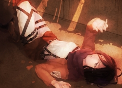 Shingeki no Kyojin, Mikasa Ackerman, Laying, Reach To The Sky