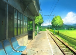 Country Side, Natsu, Train Station