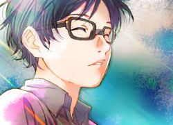 Kousei Arima, Closed Eyes, Glasses, Shigatsu Wa Kimi No Uso, Black Hair, Aniplex, A-1 Pictures