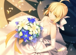 Saber, Fate/stay night, Beautiful, Gorgeous, Bride