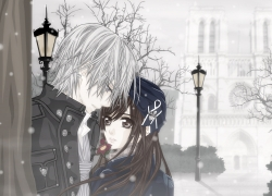 Winter, Couple, Cute
