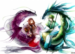Dragon, Couple, Romance