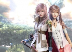 Femme Fatale, Pink Hair, Final Fantasy XIII, Blue Eyes, Serah Farron, Nature, Éclair Farron