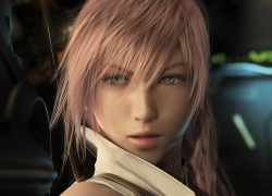 Femme Fatale, Pink Hair, Final Fantasy XIII, Blue Eyes, Close Up, Éclair Farron