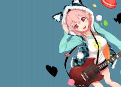 Music, Guitar, Cat Ears, SoniAni: Super Sonico the Animation