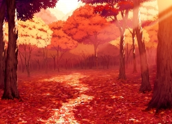 Autumn Leaves, Autumn, Bright, Trees, Scenery