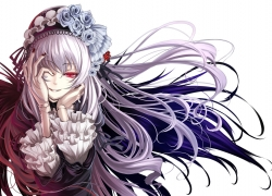 Rozen Maiden, Rozen Maiden: Ouvertüre, Rozen Maiden: Träumend, Suigintou, Black-Winged Maiden, Shiokonbu, Pink Eyes, White hair, Doll