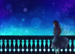 Night Sky, Stars, Girl