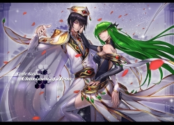 Code Geass: Lelouch of the Rebellion, Lelouch Lamperouge, Green Hair, C.C.