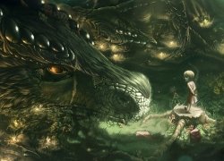 Fantasy, Dragons, One Girl, Forest