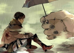 Attack on Titan, Shingeki no Kyojin, Levi Ackerman, Umbrella, Rain