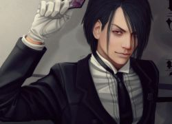 Sebastian Michaelis, Black Butler, Kuroshitsuji, Black Hair, Suit, Red Eyes