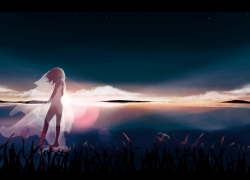 Night Sky, Girl, Sad