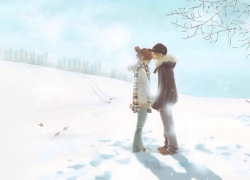 Couple, Snow, Cute