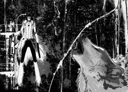 Espada, Coyote Starrk, Los Lobos, Primera Espada, Bleach, Wolves, Black And White, Abstract, Guns, Weapon