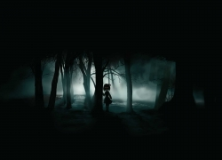 Touhou, Rumia, Mysterious, Dark, Forest, Night, Horror