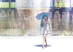 Hatsune Miku, Umbrella, Dress, Vocaloid