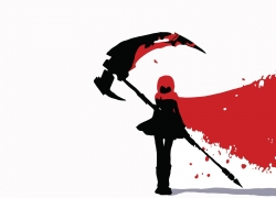 RWBY, White Background, Scythe, Hood